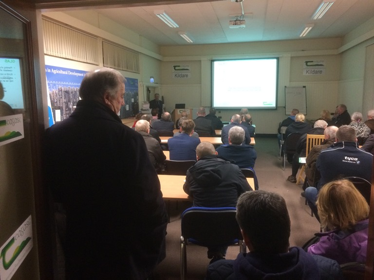 Group of People attending Forestry meeting in Naas