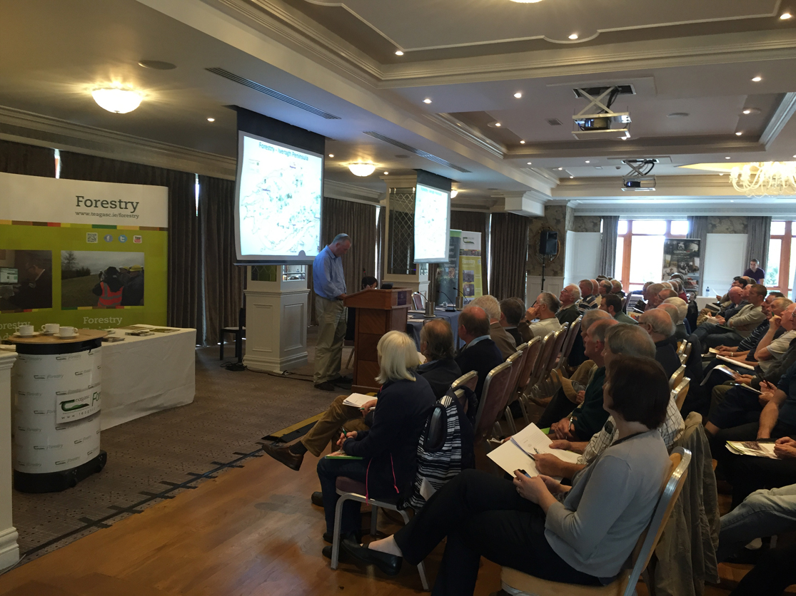 Sean Moran of Iveragh Forest Owners Group outlining a thinning case study