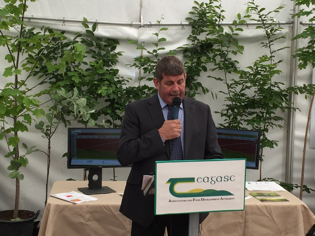 Andrew Doyle, TD, Minister of State at the Department of Agriculture, Food and the Marine with responsibility for forestry opens TIMBER 2017 at the Teagasc marquee