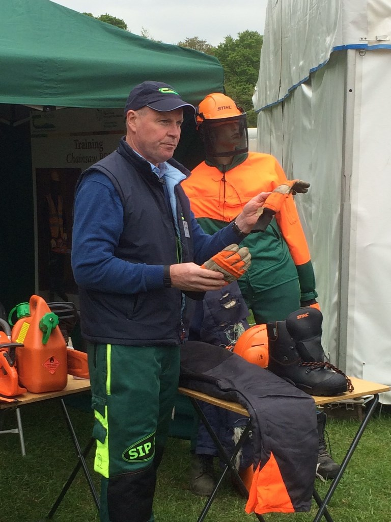 Arthur Kierans, Forestry Technician with Teagasc Ballyhaise College explains the critical importance of Personal Protective Equipment when using chainsaws