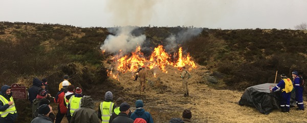 Cork Wildfire Co-operative Group (CWCG), in conjunction with Teagasc and the Forest Service organised an KT- registered Upland Management Event, including a controlled burning demo, recently near Millstreet, Co Cork.