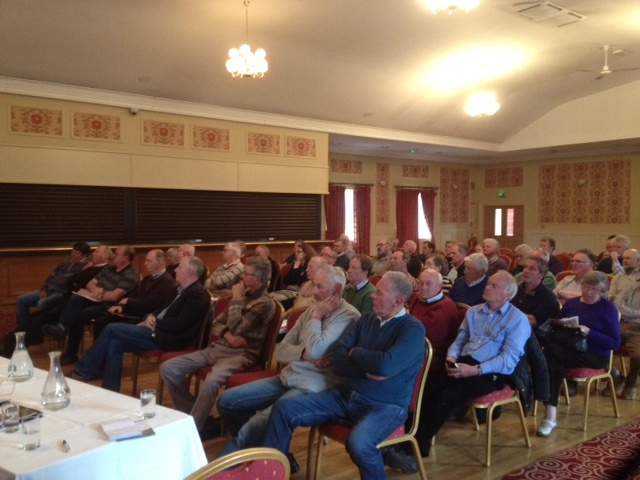 Section of audience attending the Cork-based Forest Owners Co-operative Society public meeting on forest certification at the Riverside Hotel, Macroom on Thursday 11 May 2017