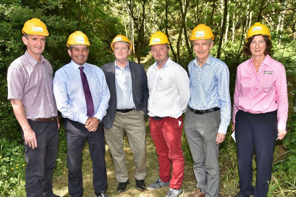 2018 RDS Forestry and Woodland Awards launch: Andrew O'Carroll (Award winner), Minister of State Andrew Doyle TD, Brendan Fitzsimmons (Chair of RDS Judging Committee), Michael Somers (Teagasc), Michael Carey (RDS), Dr Nuala Ni Fhlatharta (Teagasc)