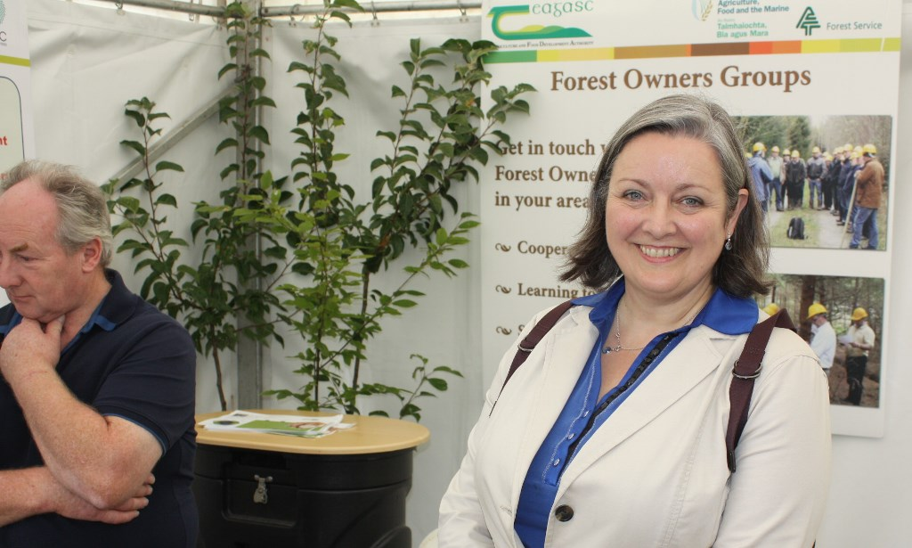 Marcella Corcoran Kennedy TD, Minister of State for Health Promotion at the Teagasc Forestry stand