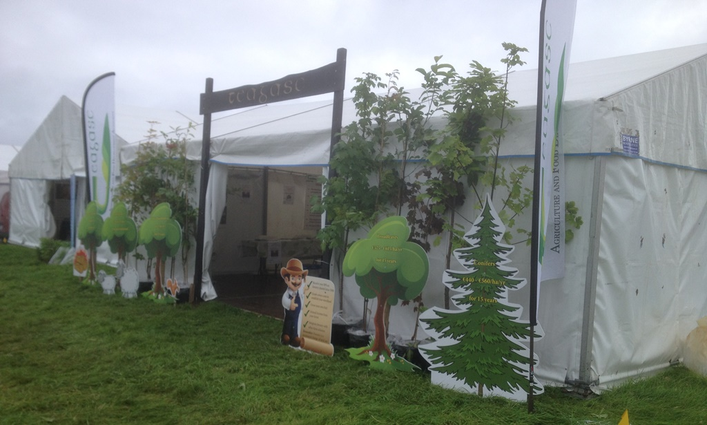 The Teagasc Forestry marquee ready for business early morning before the arrival of the first visitors…