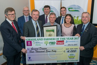 Gerard Dineen Beef Enterprise award winner Grassland farmer 2017