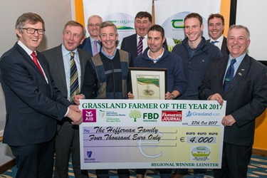 Grassland farmer Leinster winners Heffernen family