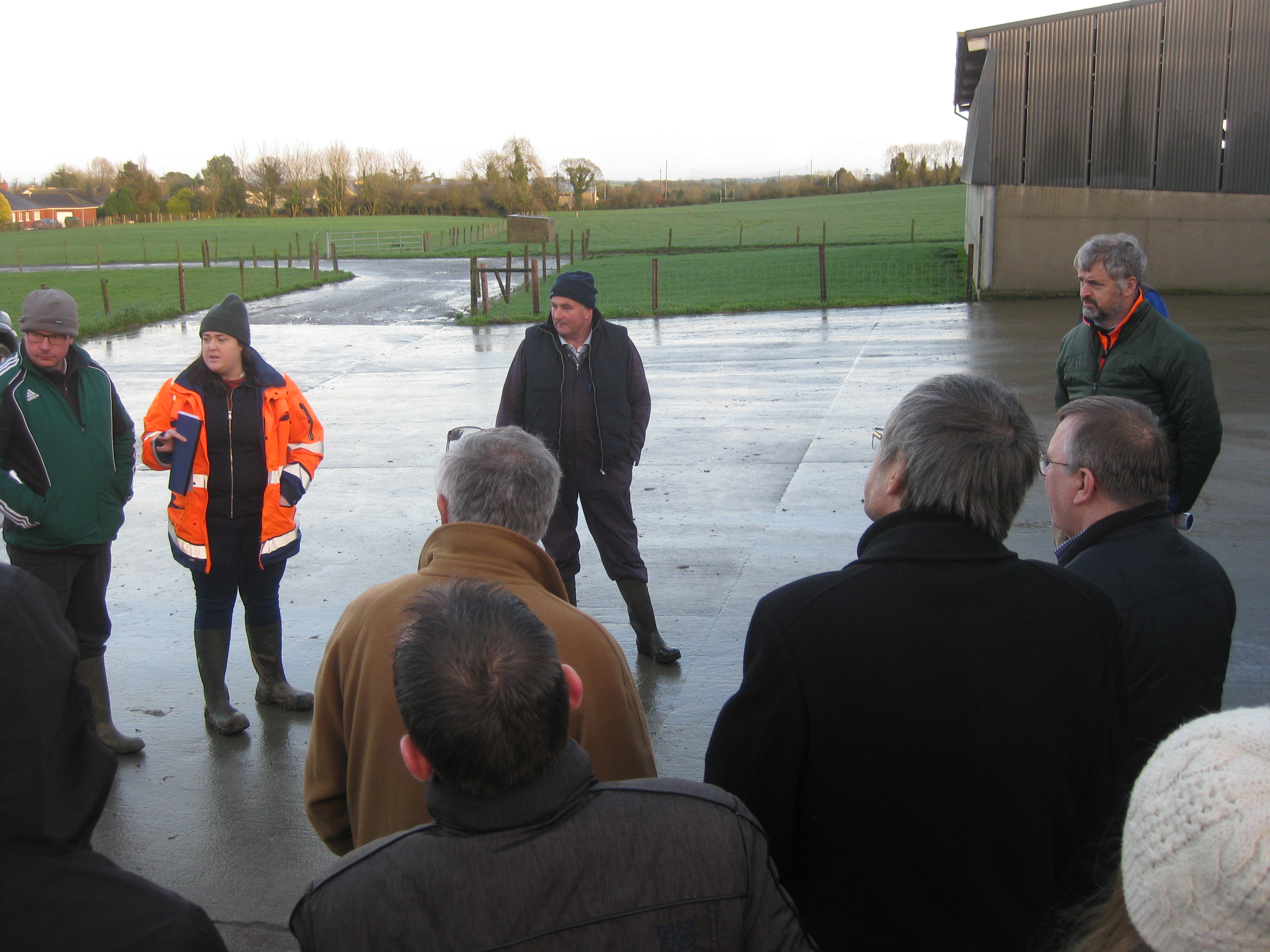 Visit of group to a catchment dairy farmer