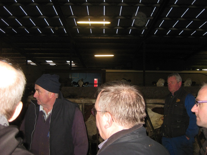 Visit to housing facilities of catchment dairy farmer