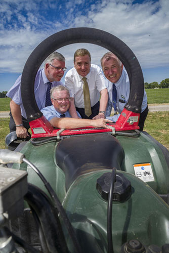 Minister for Trade, Employment and Business Pat Breen T.D. visits safety demonstrations at Teagasc Beef 2018