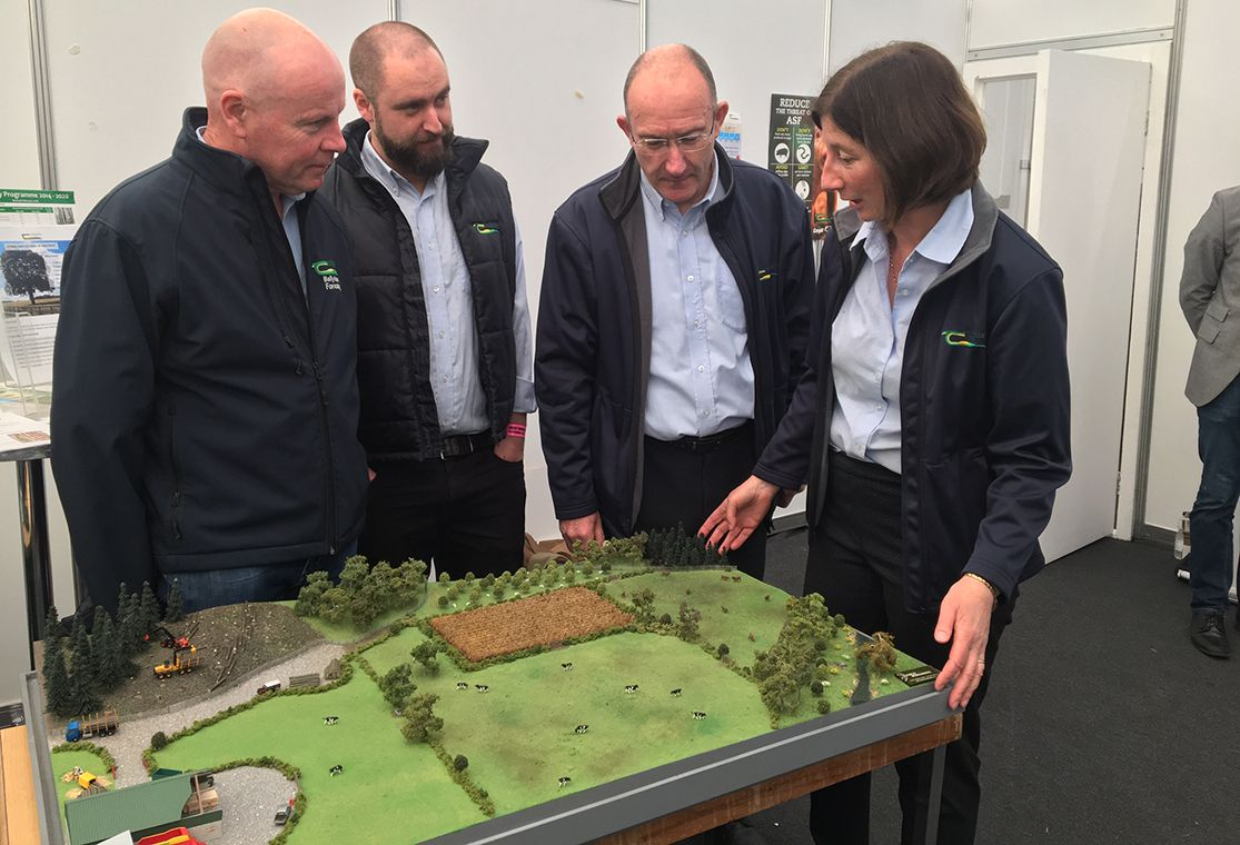 Innovative model showing important roles of forestry on farm