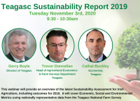 Teagasc National Farm Survey Sustainability Report 2019 Webinar